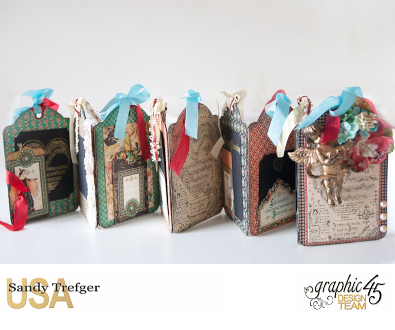 Love Tag Album, Enchanged Forest, Tutorial by Sandy Trefger, Product by Graphic 45, Photo 006