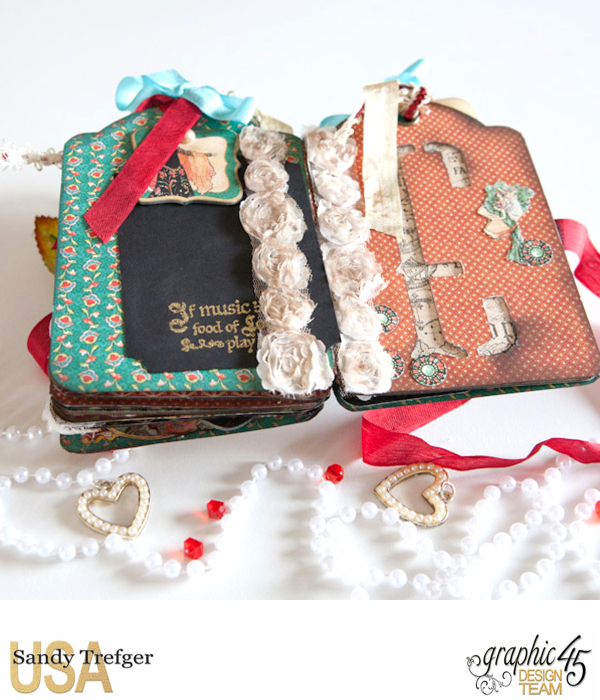 Love Tag Album, Enchanged Forest, Tutorial by Sandy Trefger, Product by Graphic 45, Photo 010