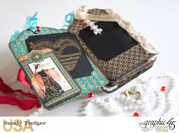 Love Tag Album, Enchanged Forest, Tutorial by Sandy Trefger, Product by Graphic 45, Photo 011