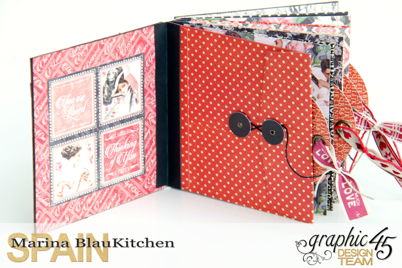 Love Album Policy Envelopes Tutorial by Marina Blaukitchen Product by Graphic 45 photo 6