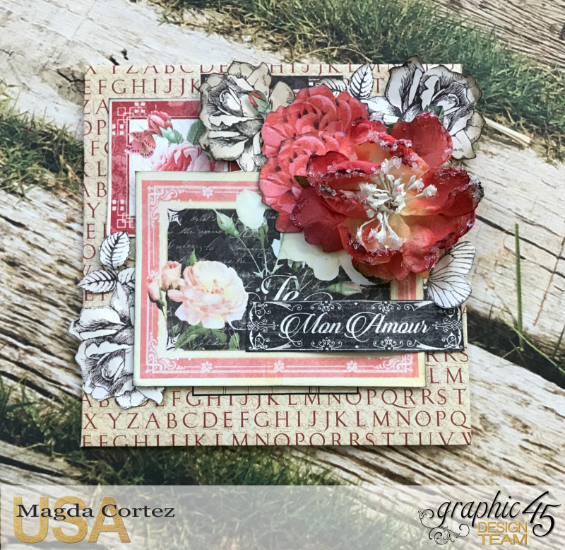 Love Policy, Mon Amour and Time to Flourish, By Magda Cortez, Product of Graphic 45, Photo 06 of 10, Project with Tutorial