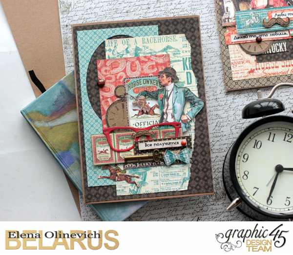 Masculine Valentine Cards, Off to the Races, by Elena Olinevich, product by Graphic45, photo4a