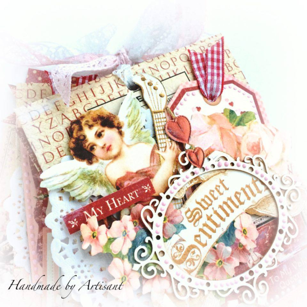 -Place in Time- and -Sweet Sentiments- envelopes Valentines album for Graphic 45 by Aneta Matuszewska, photo 2