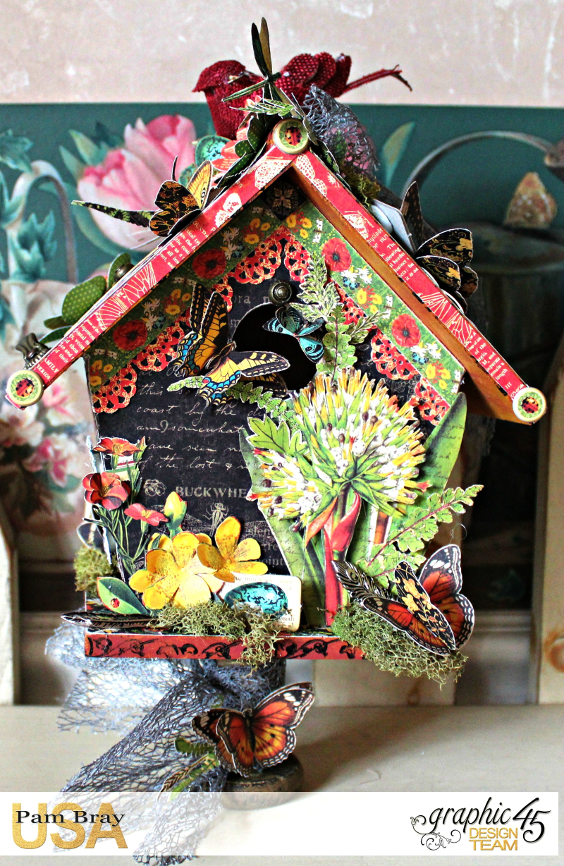 Graphic 45 Nature Sketchbook Birdhouse by Pam Bray  with Tutorial - Photo 1_3554