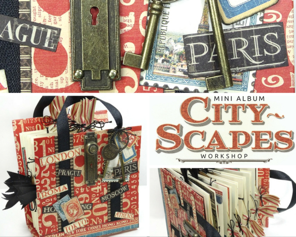 Cityscapes Suitcase Album Project Sheet