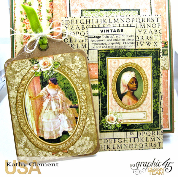 Beauty Easel Album, Portrait of a Lady, by Kathy Clement, Product by Graphic 45, Photo 7