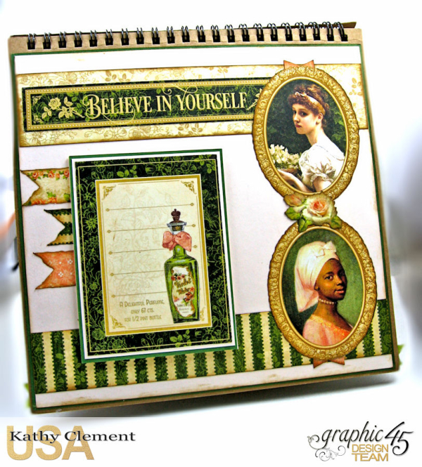 Beauty Easel Album, Portrait of a Lady, by Kathy Clement, Product by Graphic 45, Photo 8