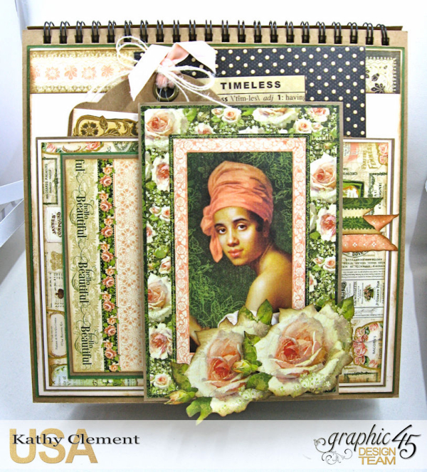Beauty Easel Album, Portrait of a Lady, by Kathy Clement, Product by Graphic 45, Photo 10