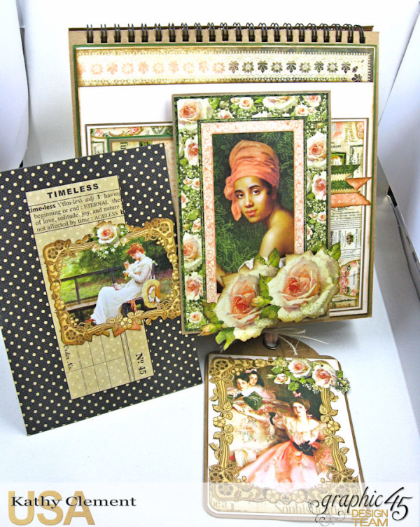 Beauty Easel Album, Portrait of a Lady, by Kathy Clement, Product by Graphic 45, Photo 11