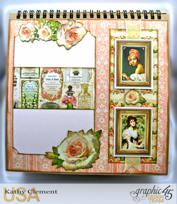 Beauty Easel Album, Portrait of a Lady, by Kathy Clement, Product by Graphic 45, Photo 15