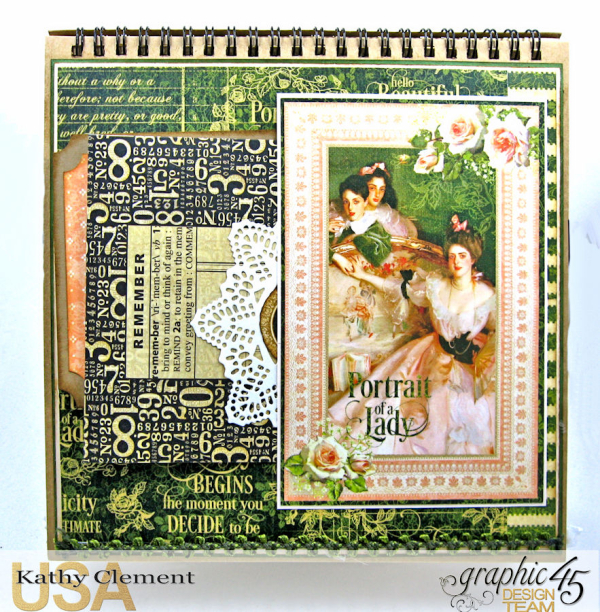 Beauty Easel Album, Portrait of a Lady, by Kathy Clement, Product by Graphic 45, Photo 16