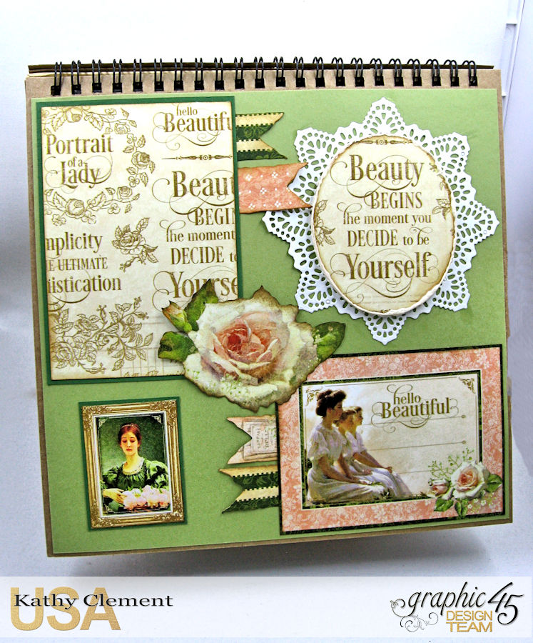 Beauty Easel Album, Portrait of a Lady, by Kathy Clement, Product by Graphic 45, Photo 18