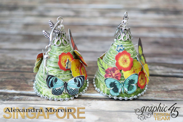 Paper Earrings, Nature Sketchbook, Project by Alexandra Morein, Product by Graphic 45, Photo 4
