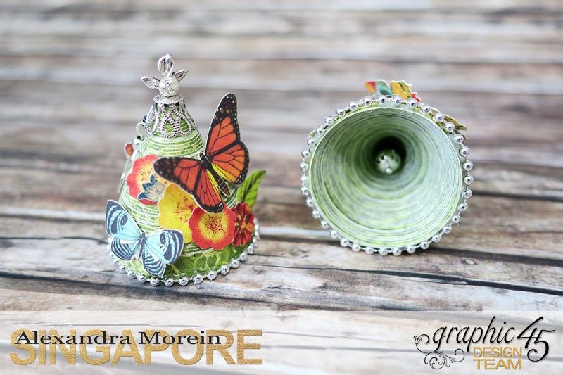 Paper Earrings, Nature Sketchbook, Project by Alexandra Morein, Product by Graphic 45, Photo 8