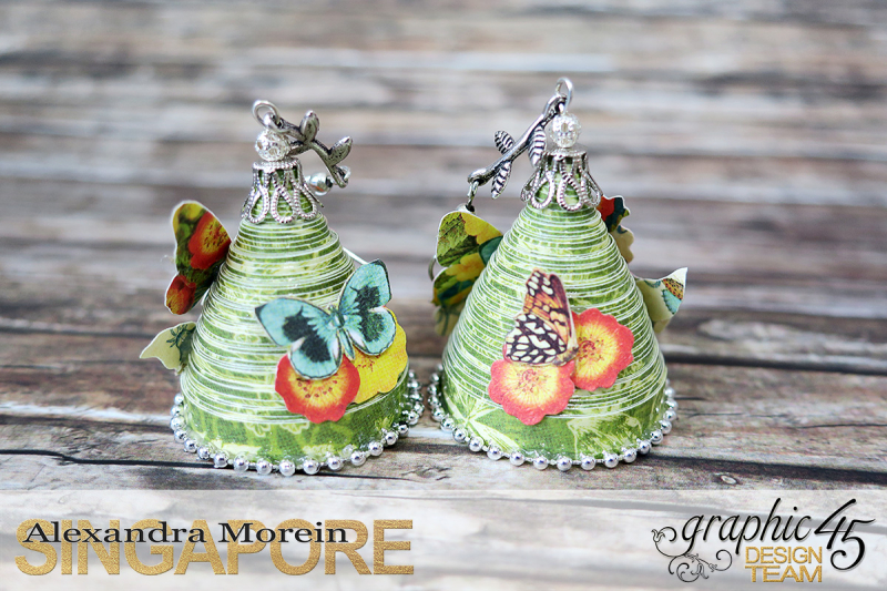 Paper Earrings, Nature Sketchbook, Project by Alexandra Morein, Product by Graphic 45, Photo 5