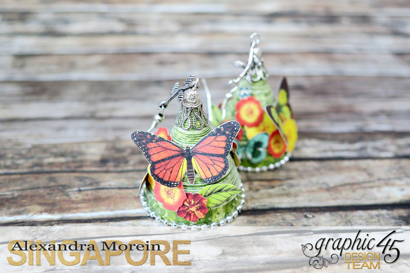 Paper Earrings, Nature Sketchbook, Project by Alexandra Morein, Product by Graphic 45, Photo 3