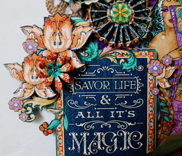 Graphic 45 Masquerade Wreath by Pam Bray with Tutorial Photo 9_3644