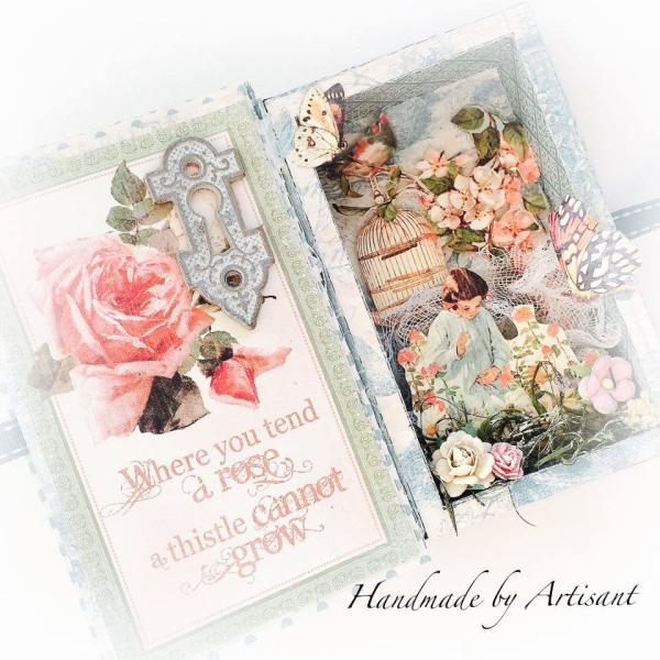 Secret Garden tiny shadow box for Graphic 45, by Aneta Matuszewska, photo 5