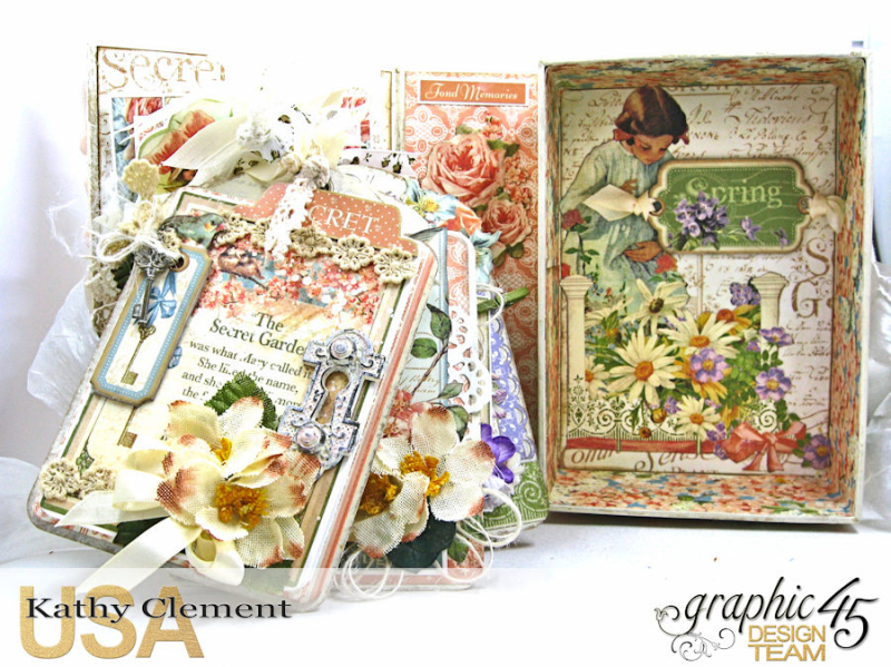Secret Garden Tag Album in a Box Tutorial, Secret Garden, by Kathy Clement, Product by Graphic 45, Photo 4