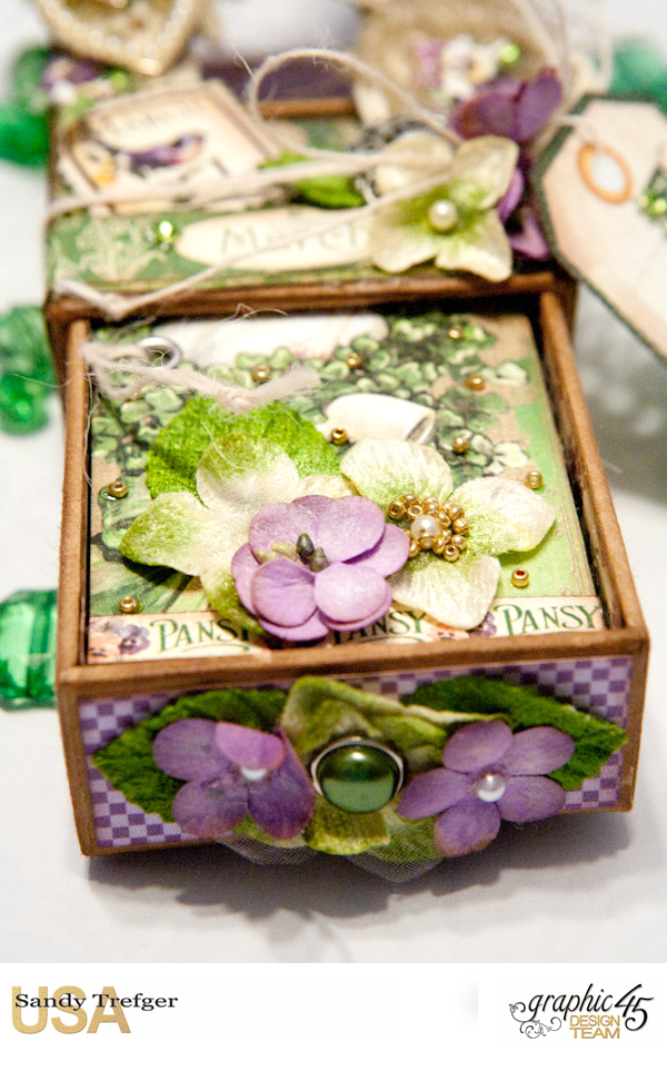 Luck of the Irish Matchbox and Leprechaun Hat, Time to Flourish, Tutorial by Sandy Trefger, Product by Graphic 45, Photo 004