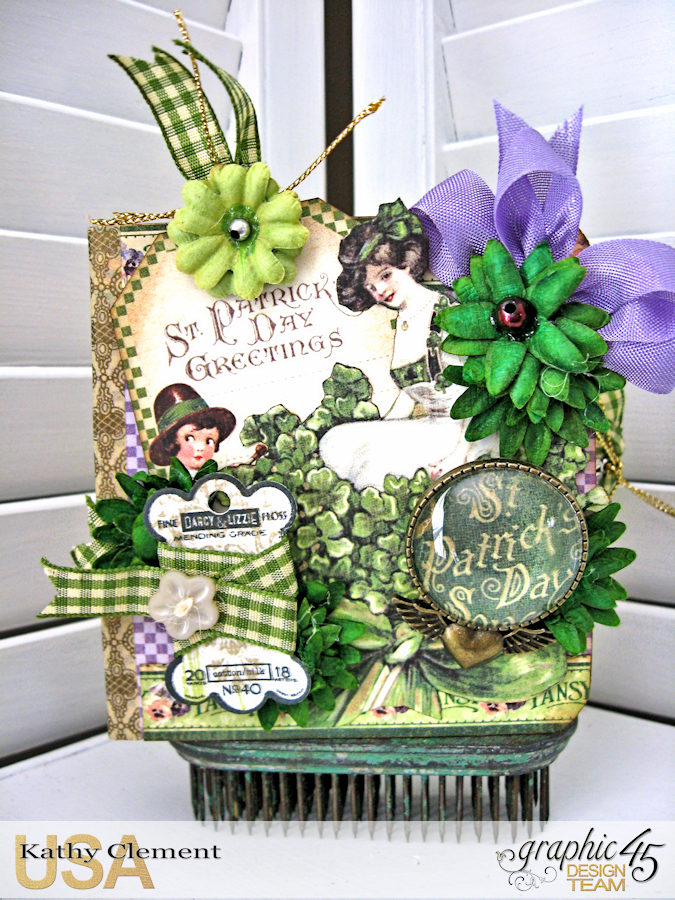 St. Patrick's Day Tag Treat Holders, A Place in Time,  by Kathy Clement, Product by Graphic 45, Photo 2