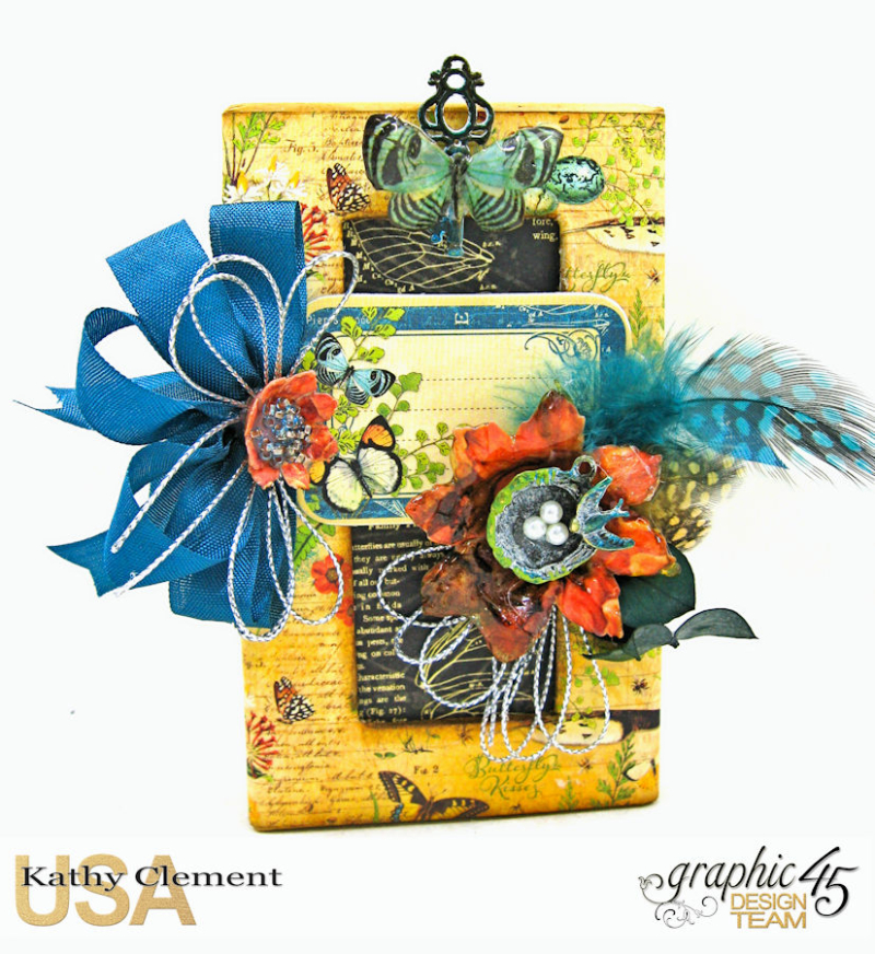 Accessorize with Graphic 45 Brooch  Nature Sketchbook  by Kathy Clement  Product by Graphic 45  Photo 5