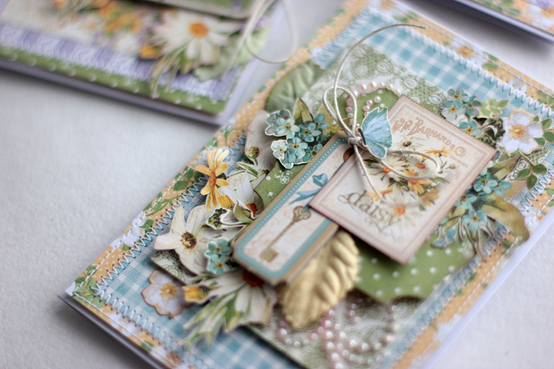 Spring Cards  Secret Garden  by Elena Olinevich  product by Graphic45  photo1