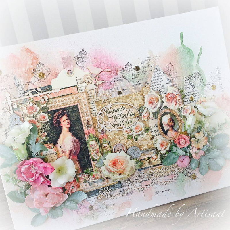 _Portrait of a Lady_ mixed media canvas tutorial for G45  by Aneta Matuszewska  photo 2
