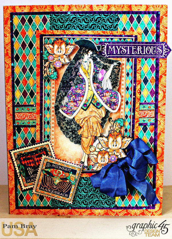 Graphic 45 Midnight Masquerade Invitation by Pam Bray with Tutorial Photo 1_3733 - Copy