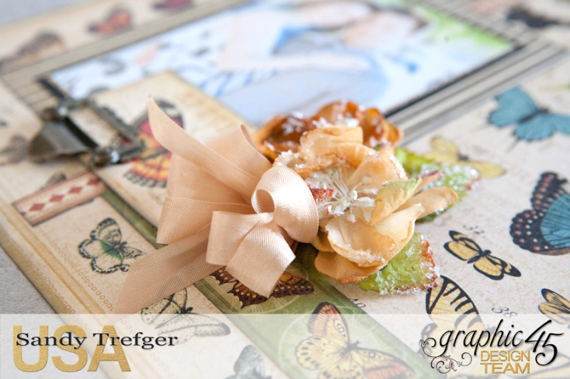 Butterfly Layout  Olde Curiosity Shoppe  by Sandy Trefger  Product by Graphic 45  Photo 003