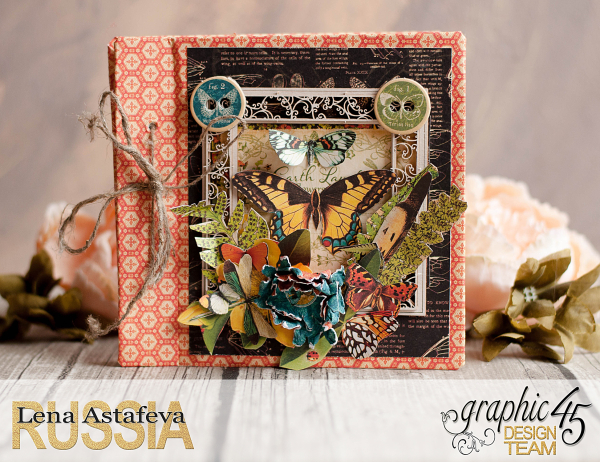 Mini album-Nature Sketchbook- Lena Astafeva-product by Graphic 45-14