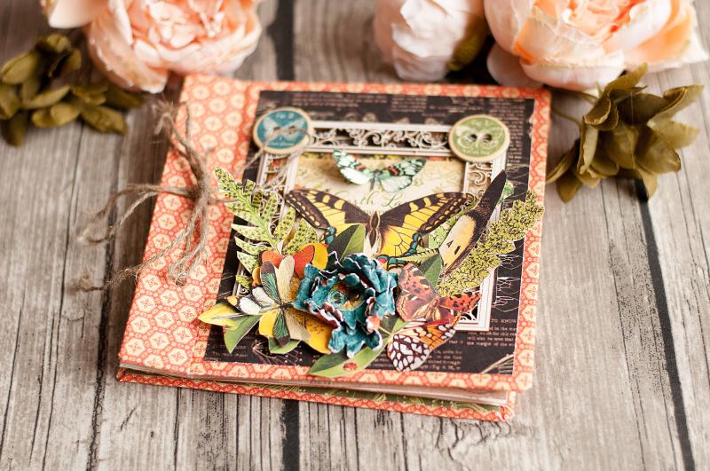 Mini album-Nature Sketchbook- Lena Astafeva-product by Graphic 45-10