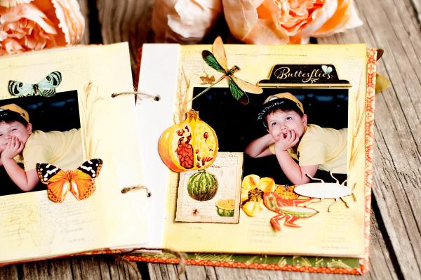 Mini album-Nature Sketchbook- Lena Astafeva-product by Graphic 45-44