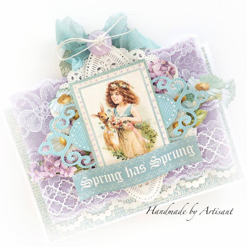 Sweet Sentiments Easter cards for Graphic 45  by Aneta Matuszewska  photo 2