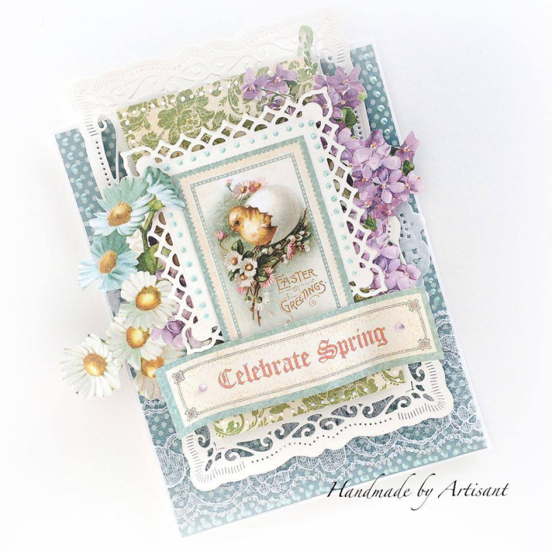 Sweet Sentiments Easter cards for Graphic 45  by Aneta Matuszewska  photo 4