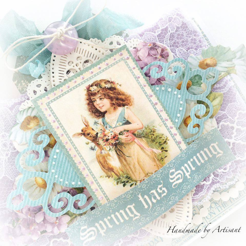 Sweet Sentiments Easter cards for Graphic 45  by Aneta Matuszewska  photo 3