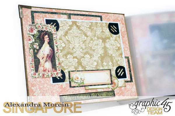 Mini Album  A Portrait of a Lady  Tutorial by Alexandra Morein  Product by Graphic 45  Photo 6