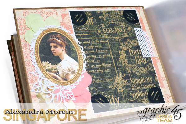 Mini Album  A Portrait of a Lady  Tutorial by Alexandra Morein  Product by Graphic 45  Photo 10