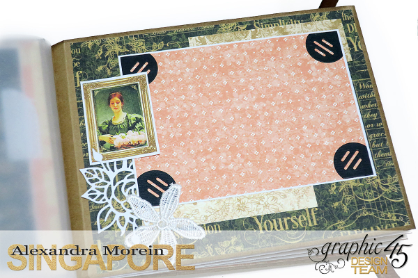 Mini Album  A Portrait of a Lady  Tutorial by Alexandra Morein  Product by Graphic 45  Photo 11