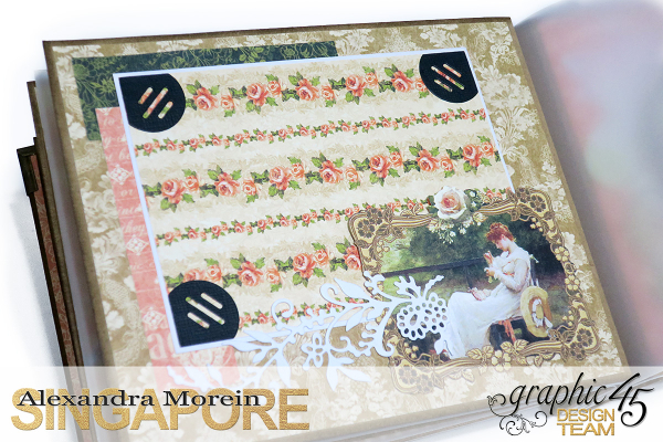 Mini Album  A Portrait of a Lady  Tutorial by Alexandra Morein  Product by Graphic 45  Photo 12
