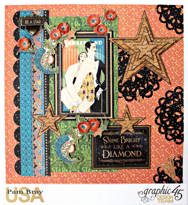 Graphic 45 Vintage Hollywood Layout by Pam Bray Photo 6_4384