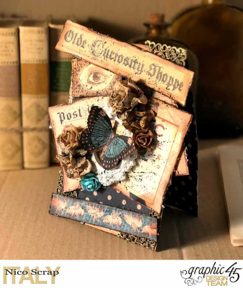 Curiosity card   Olde Curiosity Shoppe   photo 2   by Nico Scrap  Product by Graphic 45.
