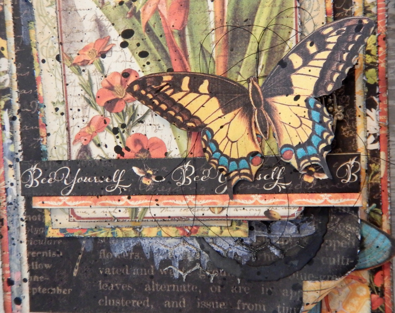 Bee Yourself Mixed Media Tag  Nature Sketchbook  By Katelyn Grosart  Product by Graphic 45  Photo 5