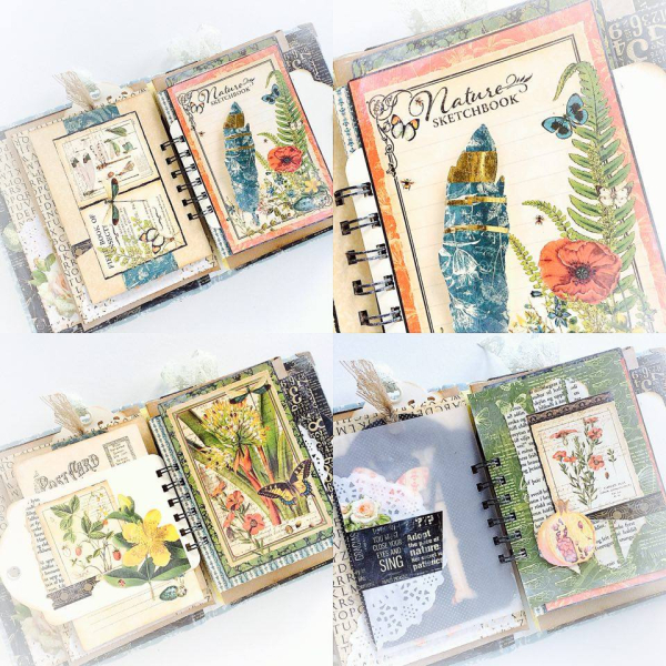 Nature Sketchbook handmade album for Graphic 45  by Aneta Matuszewska  photo 9