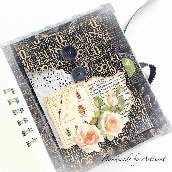 Nature Sketchbook handmade album for Graphic 45  by Aneta Matuszewska  photo 14