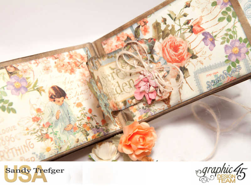 Paper Bag Mini Album  Secret Garden  Tutorial by Sandy Trefger  Product by Graphic 45  Photo 007