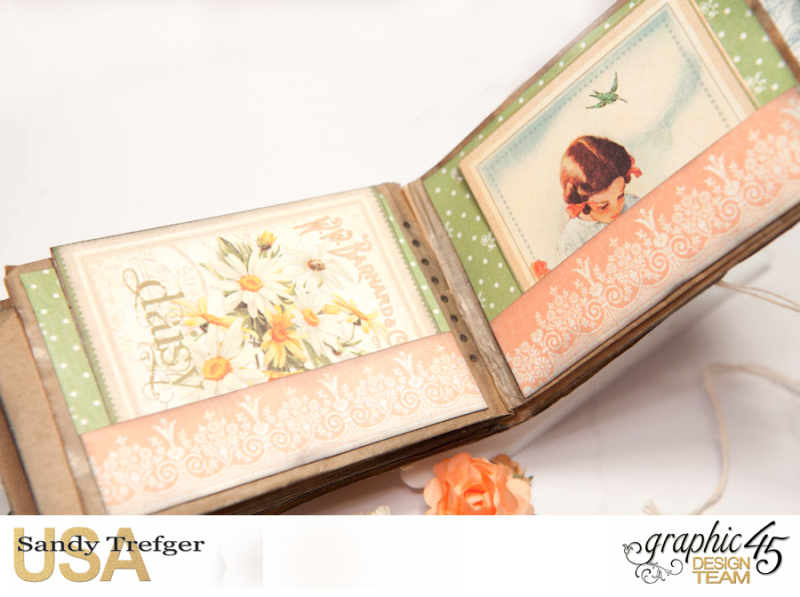Paper Bag Mini Album  Secret Garden  Tutorial by Sandy Trefger  Product by Graphic 45  Photo 009