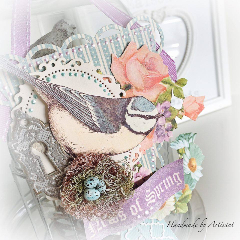 Sweet Sentiments and Tea Party Easter decor for Graphic 45  by Aneta Matuszewska  photo 2