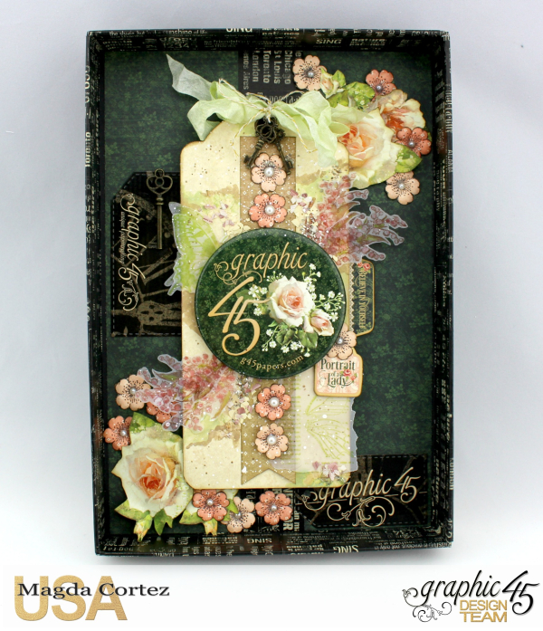 Believe in Yourself Shadow Box- Portrait of a Lady- By Magda Cortez- Product of Graphic 45- Photo 03 of 10- with Tutorial