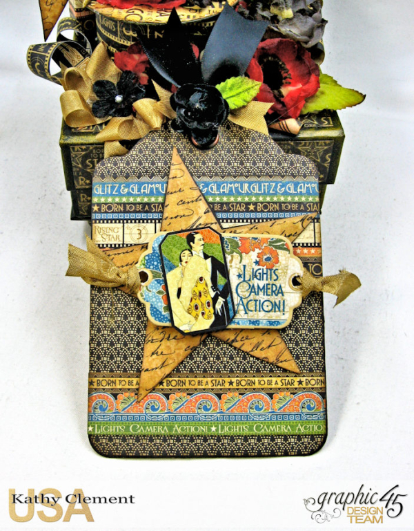 Born to Be a Star Upcycled Photo Box  Vintage Hollywood  by Kathy Clement  Product by Graphic 45  Photo 18